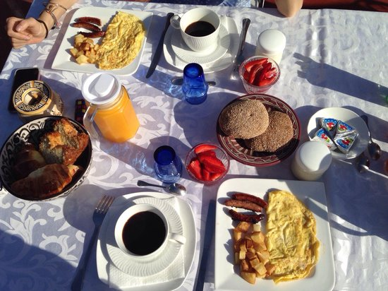 Riad Alnadine: Breakfast