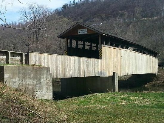 Covered Bridge loop: 1. Claycomb CB, the entryway to Old Bedford Village.