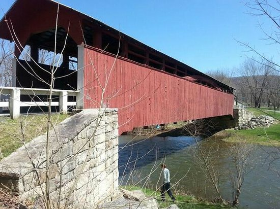Bedford County Covered Bridge Driving Tour: 9. Herline CB, longest in the County at 136 feet.