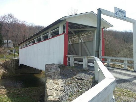 Bedford County Covered Bridge Driving Tour: 5. Ryot CB, replaced after it was torched a few years ago.