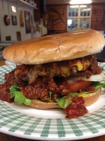 Somethin' Sweet: Double Meat Chili Burger