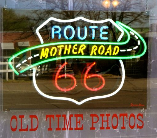 Mother Road Old Time Photos: Neon