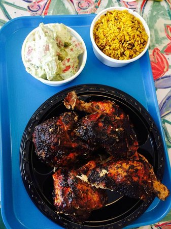 Chicken! Chicken! Caribbean Wood Roasted: Simple but extremely flavorful roasted chicken.