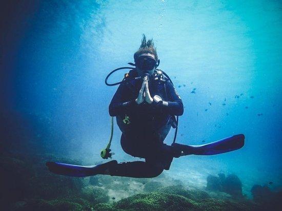 Vietnam Active - Adventure Company and Dive Center: underwater yoga -:)
