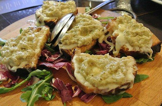 Food Tours of Rome: Potato and carciofi bruscetta at S.Daniele