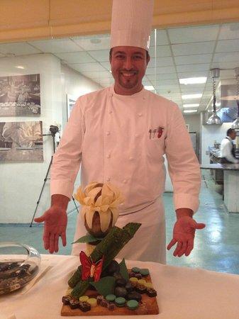 Royal Hideaway Playacar: Chef Eugenio Villafana with the Chocolate display