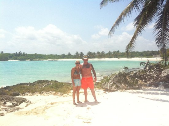 Grand Bahia Principe Tulum : This part of the hotels beach is just breath taking