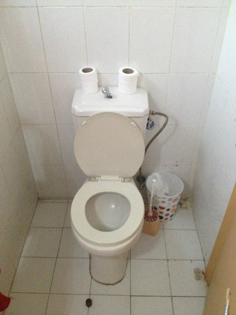 Amman Pasha Hotel: The toilet with the broken flush (like this on the first and the last day)