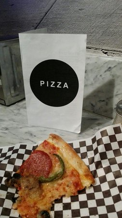 Secret Pizza : This is so good that I almost ate it all before snapping a pic. Highly recommended!