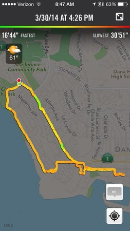 ‪‪Dana Point‬, كاليفورنيا: Hiking map Aliso Park-Ritz Carlton-Dana Point boardwalk-Compass-Dana Point Bluff Top trail to ha‬