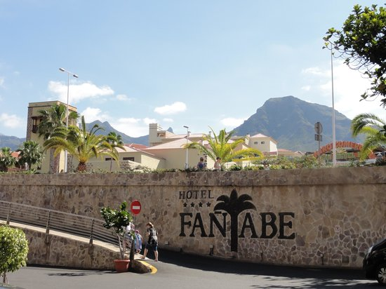 Fanabe Costa Sur Hotel: Looking out from the front of the hotel