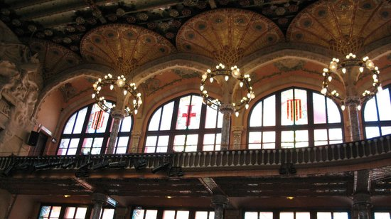 Palais de la Musique Catalane (Palau de la Musica Catalana) : Внутри дворца