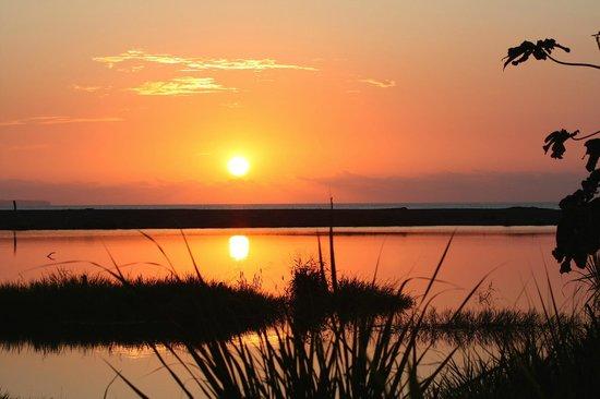Sonnenuntergang von der Terrasse der Rio Drake Farm