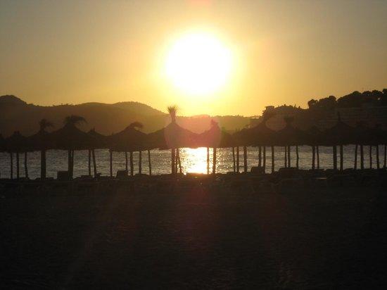 Ona Surfing Playa: Vacker solnegång på Santa Ponsas strand