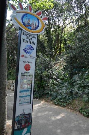 Barcelona Bus Turistic : le colonnine delle fermate