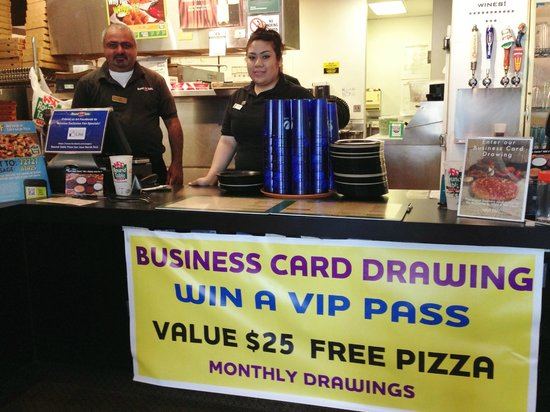 Round Table Pizza Job.Enter Our Monthly Business Card Drawing Picture Of Round Table