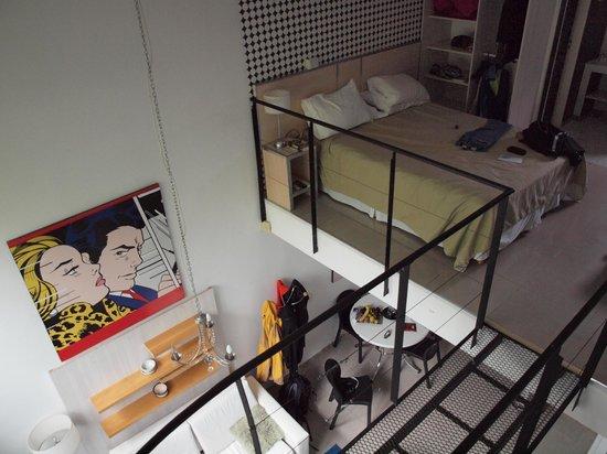 Apart Tgc Inn: bedroom / loft in unit 0103