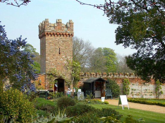 Oxburgh Hall: View of the walled garden entrance