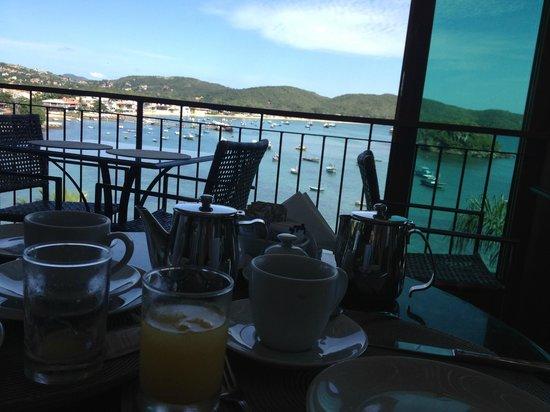 Vila D'este: Vista do Restaurante / Café da Manhã