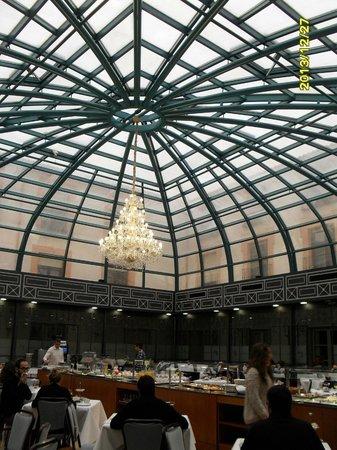 Palacio de los Velada: Patio donde hacen el bufet desayuno