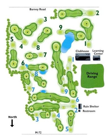 Bay Meadows Golf Course : Course Outline