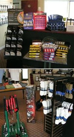 Bay Meadows Golf Course: Pro shop complete with rentals, the most up to date golf apparell and balls.