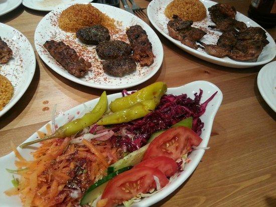 Marmaris Turkish Restaurant: Salad... Kababs...