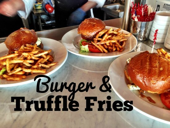 Burger And Truffle Fries Picture Of Quicks Hole Tavern Woods