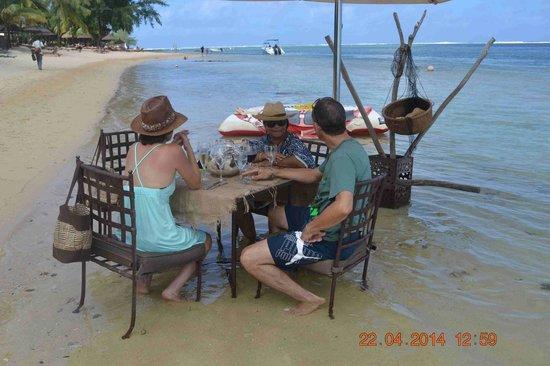 Heritage Awali Golf & Spa Resort : Les pieds dans l'eau !