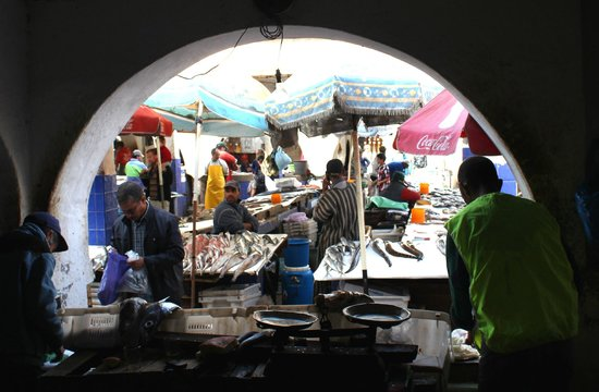 Essaouira Fish Market : View of the Fish Market from the restaurant