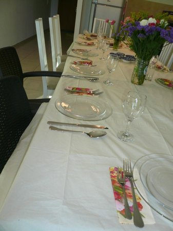 Windows of Jerusalem Vacation Apartments by EXP: Passover table in 4 bedroom  apt