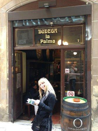Bodega La Palma: Devanture du restaurant