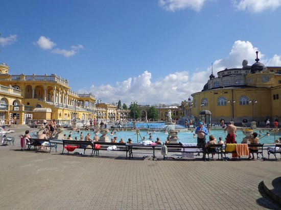 Szechenyi Baths and Pool: main outdoor pool