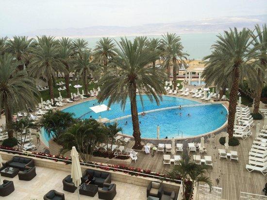 Isrotel Dead Sea Hotel & Spa: Вид со второго этажа