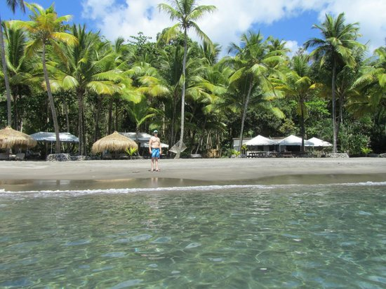 Jade Mountain Resort : Beach at Anse Mamin, the small private beach also on the property