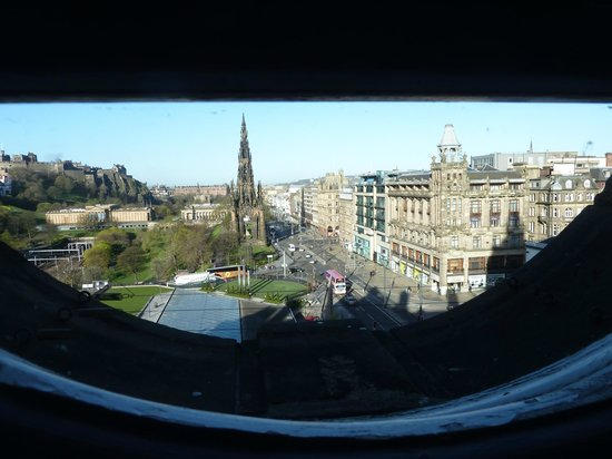 The Balmoral Hotel: view from the loo