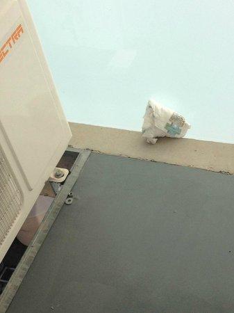 Dazzler Recoleta: Pañal en el balcon de mi habitación