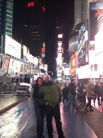 Times Square : My girlfriend and I in Time Square
