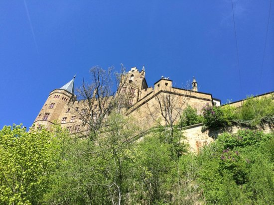 Castle of Hohenzollern : A view from the Shuttle Bus path