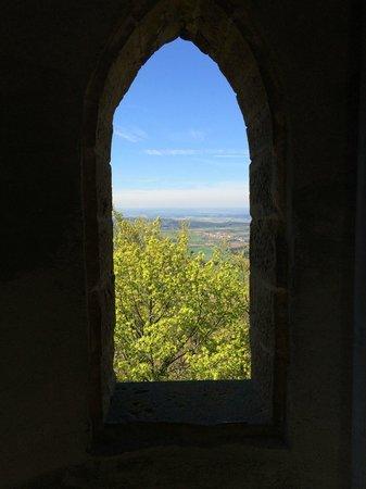 Burg Hohenzollern: A view through an arrow slit.