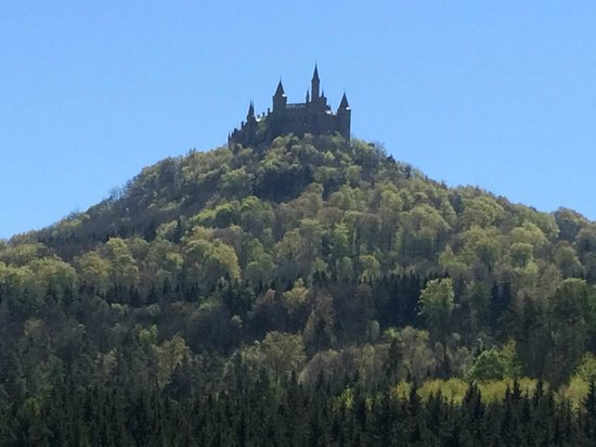 Burg Hohenzollern: A view of Hohenzollern from the road