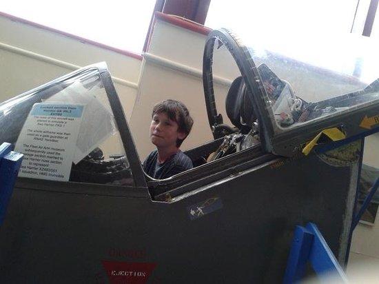 Solent Sky Museum: Peter in the cockpit