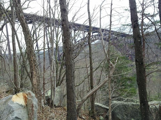 New River Gorge Bridge: bridge from the old road