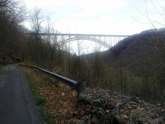 New River Gorge Bridge: from the road