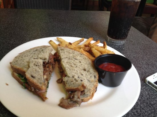 The Toucan Cafe: Lamb sandwich with hand cut fries! On home made bread.  Awesome and only $11