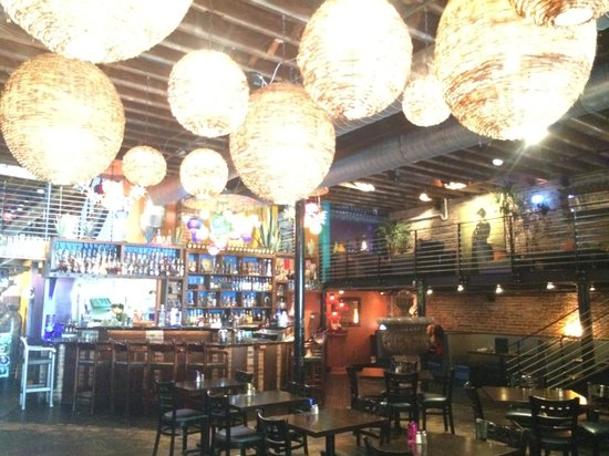 Salud Mexican Kitchen: Upstairs is perfect for relaxing and drinking a margarita.