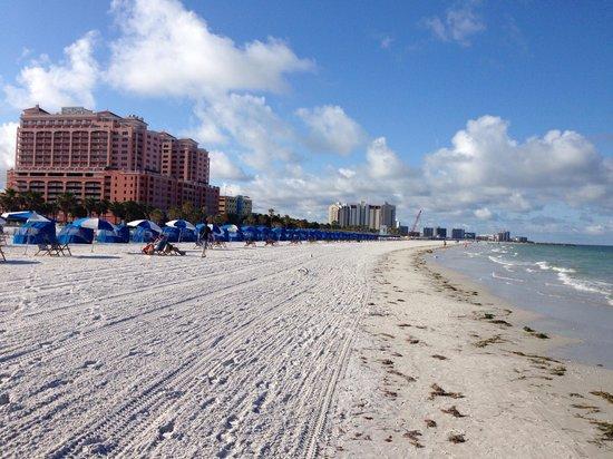 Hyatt Regency Clearwater Beach Resort & Spa: Hotel from the beach (morning walk)