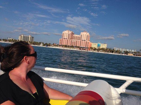 Hyatt Regency Clearwater Beach Resort & Spa: Hotel from the Thriller Boat