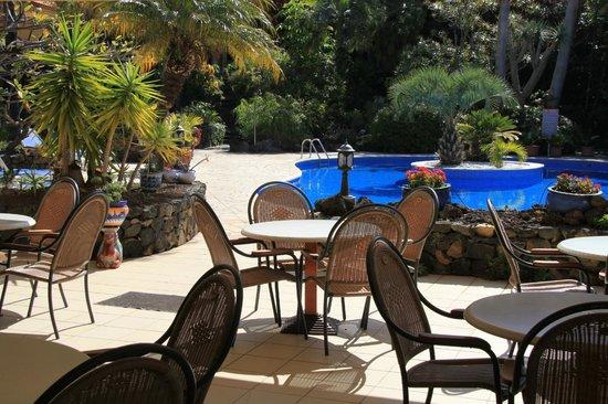 Tigaiga Suites: Restaurantblick auf Pool