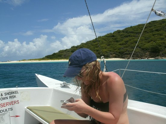 Buck Island Reef National Monument: Sailing away from Buck Island